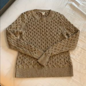 JCrew Gold metallic sweater